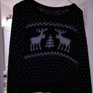 a&f wool cropped sweater